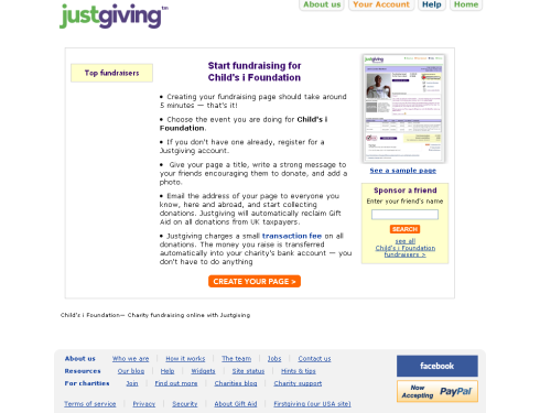 Set up your own fundraising page